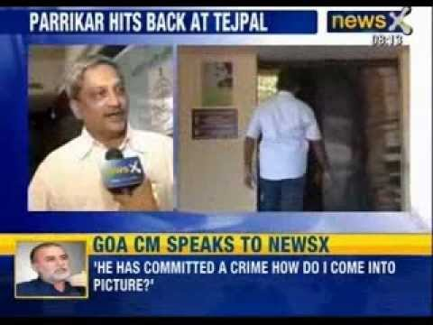 Exclusive Interview with Goa Chief Minister Manohar Parrikar on Tarun Tejpal case - NewsX