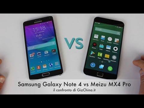 Samsung Galaxy Note 4 vs Meizu MX4 Pro: il confronto di GizChina.it