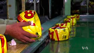 Pakistan: World's Leading Manufacturer of Soccer Balls - VOAVIDEO