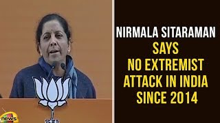 Nirmala Sitaraman Says No Extremist Attack In India Since 2014 | PM Modi Latest Speech | Mango News - MANGONEWS
