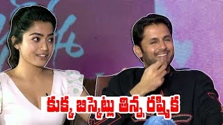 Nithin Hilarious Comedy with Rashmika | Bheeshma Movie FUNNY Interview | Nithiin | Rashmika Mandanna - IGTELUGU