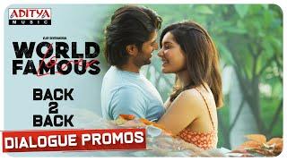 #WorldFamousLover Back To Back Dialogue Promos | Vijay Deverakonda - ADITYAMUSIC