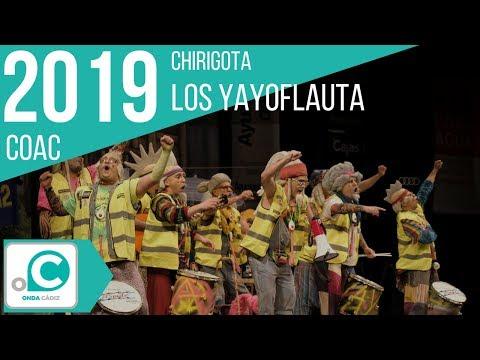 La agrupación Los yayoflauta llega al COAC 2019 en la modalidad de Chirigotas. En años anteriores (2018) concursaron en el Teatro Falla como Los del convento de Santa María La Yerbabuena, consiguiendo una clasificación en el concurso de Cuartos de final.
