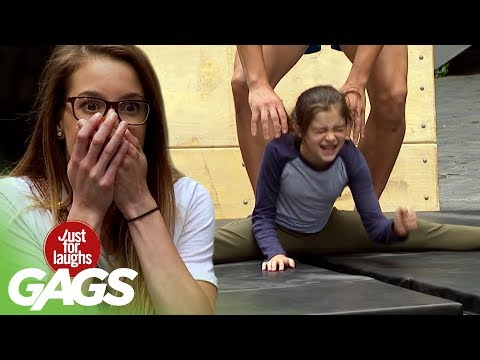 Little Girl is Forced to Do the Splits