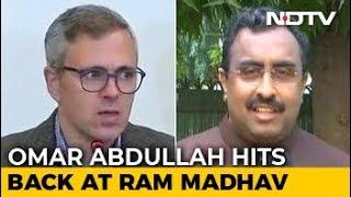"""Instructions From Pak"" Dig Sparks Omar Abdullah-Ram Madhav Twitter Fight - NDTV"