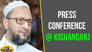 Asaduddin Owaisi AIMIM Press Conference At Kishanganj In Bihar | Mango News - MANGONEWS