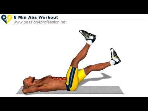 8 Min Abs Workout, how to have six pack (HD Version) -0Q4u7IVmsz0