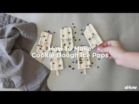 DIY Cookie Dough Ice Pops