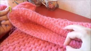Вязание спицами  Свитер регланом снизу из пряжи от фирмы Nako