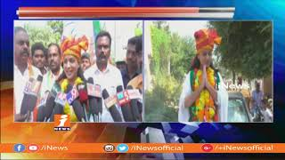 BJP Candidate Reshma Rathore Road Show in Konijerla | Wyra | iNews - INEWS