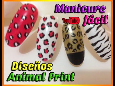 Manicura Animal Print   Maquillaje de uñas
