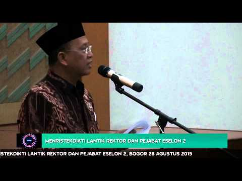 Menristekdikti Lantik Rektor dan Pejabat Eselon 2