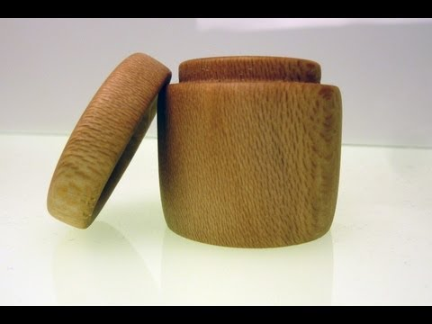 Wood Turning Small Sycamore Box