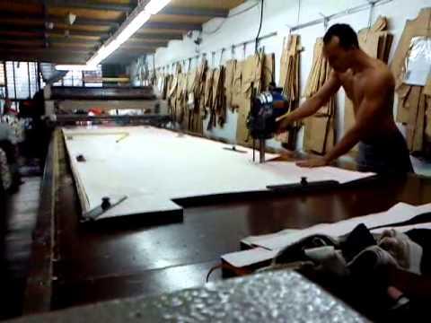 cortando tecido plano korea
