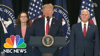 Donald Trump praises Gina Haspel, Thanks CIA Officers At Swearing-In Ceremony   NBC News - NBCNEWS