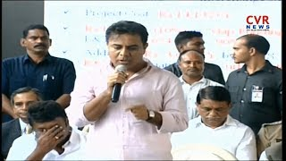 KTR speech at Ameerpet to LB Nagar Metro Flags Off ceremony | CVR NEWS - CVRNEWSOFFICIAL