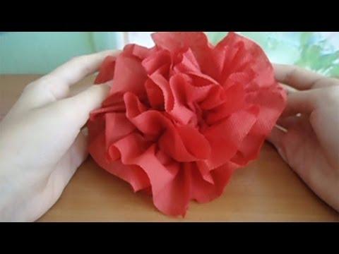 Цветы из салфеток  смотреть