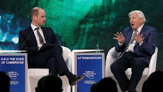 Prince William interviews David Attenborough at Davos 2019 - THESUNNEWSPAPER