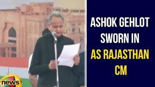 Ashok Gehlot sworn in as Rajasthan CM | Rajasthan Elections | Ashok Gehlot Latest News | Mango News - MANGONEWS