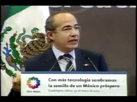 Un hombre increpa a Calderón en Guadalajara por la guerra contra el narco