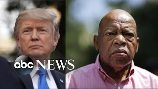 Tensions build between Trump, civil rights activist John Lewis - ABCNEWS