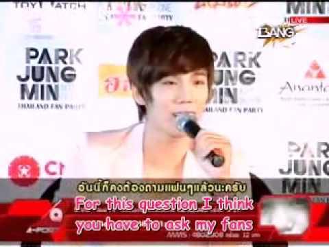 [Eng Sub] 110516 [A-Port] Park Jung Min Thailand Fan Party Press Conference