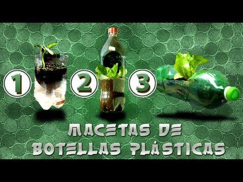 Como hacer Macetas de 3 tipos con botellas plásticas (Reutiliza)