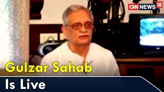Gulzar Sahab Is Live On Viewpoint | CNN News18 - IBNLIVE