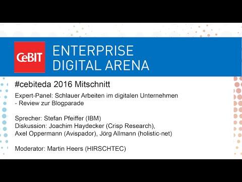 """#cebiteda16: Expert-Panel """"Schlauer Arbeiten im digitalen Unternehmen"""""""