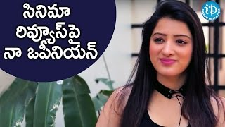 Richa Panai About Her Opinion On Movie Reviews || Talking Movies With iDream - IDREAMMOVIES