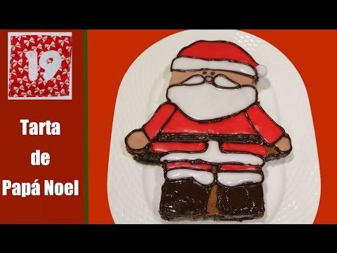 Tarta navideña de Papa Noel