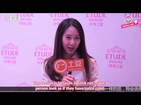 [HeartfxSubs] 140404 f(x) Krystal - Etude House Tudou Interview (eng)