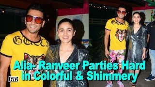 Alia- Ranveer Parties Hard in Colorful & Shimmery | Gully Boy Wrap up Party - BOLLYWOODCOUNTRY