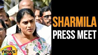 YS Sharmila Reacts On Her Relationship With PRABHAS | YS Shramila About Prabhas |Sharmila Pressmeet - MANGONEWS
