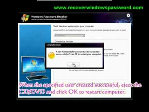 Windows server 2003 - Password Reset & recovery.