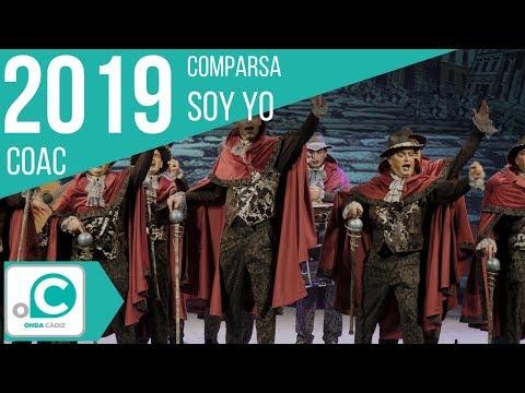 La agrupación Soy yo llega al COAC 2019 en la modalidad de Comparsas. En años anteriores (2018) concursaron en el Teatro Falla como El constructor, consiguiendo una clasificación en el concurso de Preliminares.