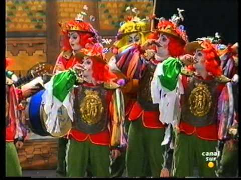 Sesión de Final, la agrupación Quijotes del sur actúa hoy en la modalidad de Comparsas.