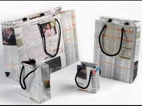 Manualidades con papel de diario para niños 6