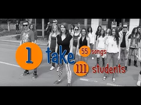 One Take Song Mash-Up (high school AHOL, CZECH REPUBLIC),song Daniel Kim - Pop Danthology 2012, 2013