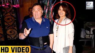 Rishi Kapoor Embarrasses Wife Neetu Kapoor At Rakesh Roshan's Birthday Bash | LehrenTV