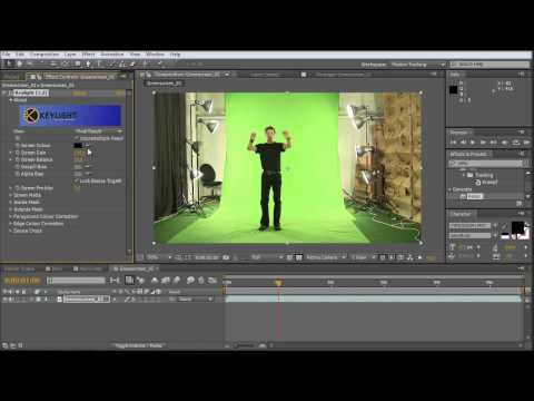 after effects tutorial: how to create a intro text animation / greenscreen keying  (PART 1of2)