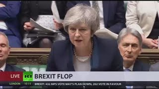 'Catastrophic Defeat': UK Parliament rejects Theresa May's Brexit deal - RUSSIATODAY