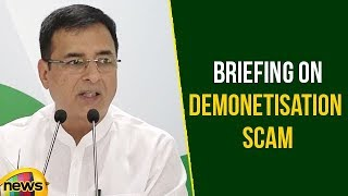 AICC Press Briefing on Demonetisation Scam by Randeep Singh Surjewala at Congress HQ | Mango News - MANGONEWS