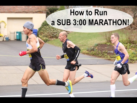HOW TO RUN A SUB 3 HOUR MARATHON! | Sage Running Training Tips and Workouts