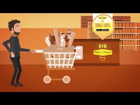 Sumermarkety Piotr i Paweł zachęcają klientów do samodzielnego skanowania towarów.
