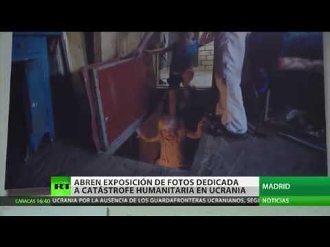 Inauguran en Madrid una exposición sobre la catástrofe humanitaria en Ucrania