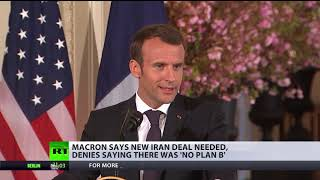 France wants to work with US on new nuclear deal with Iran – Macron - RUSSIATODAY