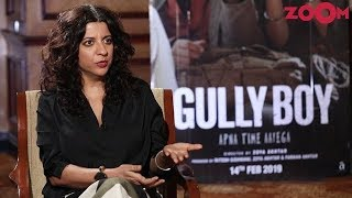 Zoya Akhtar on Ranveer Singh and Alia Bhatt's Gully Boy, Comparsion with 8 Mile and more | EXCLUSIVE - ZOOMDEKHO