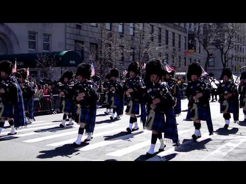 St. Patrick's Day Parade- New York City- Port Authority Police Department Pipes & Drums