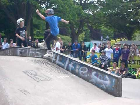9 year old TONY HOGGAN 2010 BEVI SKATEPARK INLINE FINAL RUN